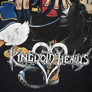 Kibdom hearts black shirt medium
